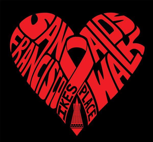 2012 AIDS WALK T-SHIRT
