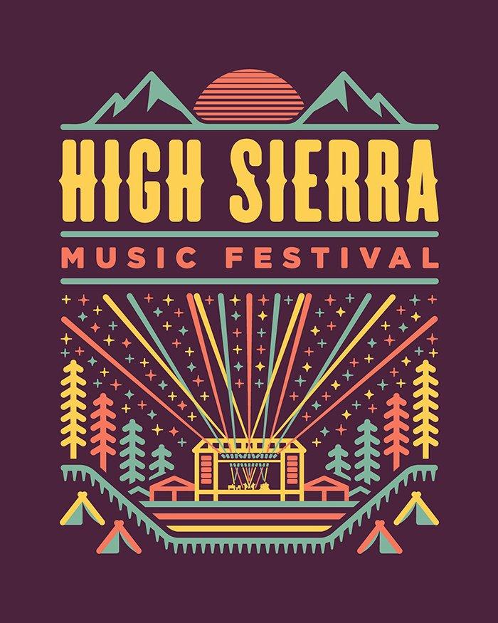 HIGH SIERRA 2019 MERCH DESIGN