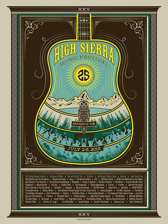 2015 HIGH SIERRA MUSIC FESTIVAL POSTER