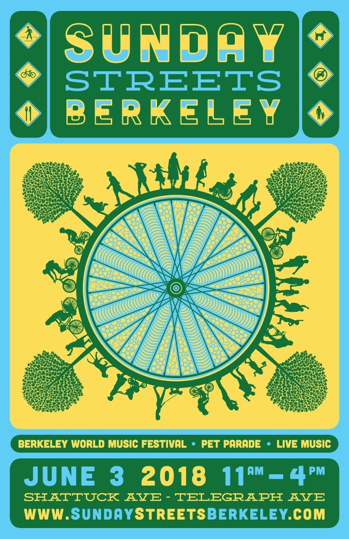 SUNDAY STREETS BERKELEY 2018 PROMO POSTER