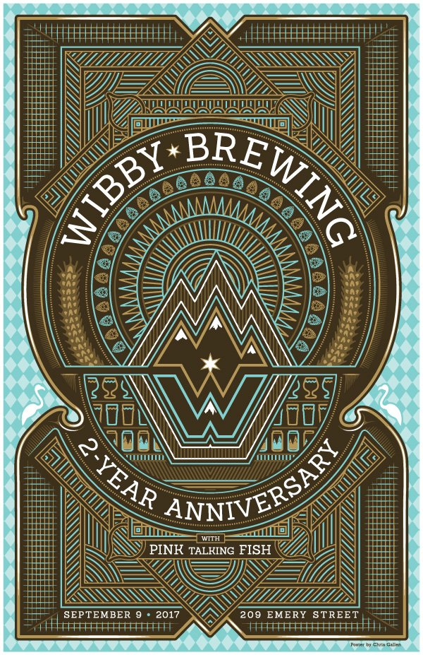 WIBBY BREWING 2ND ANNIVERSARY POSTER
