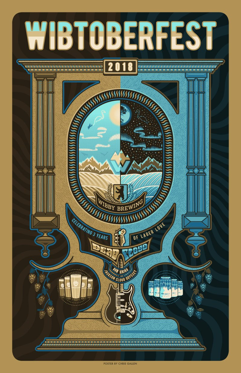 WIBBY BREWING 3RD ANNIVERSARY POSTER