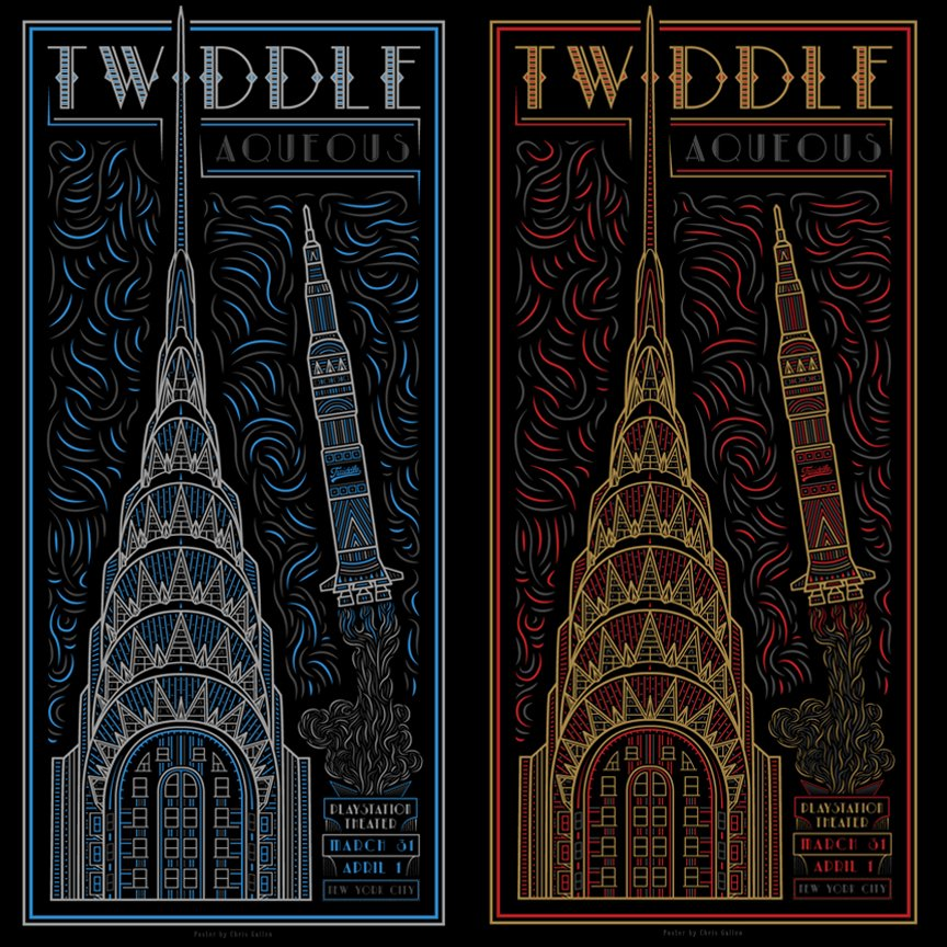 TWIDDLE NYC 2017 POSTER