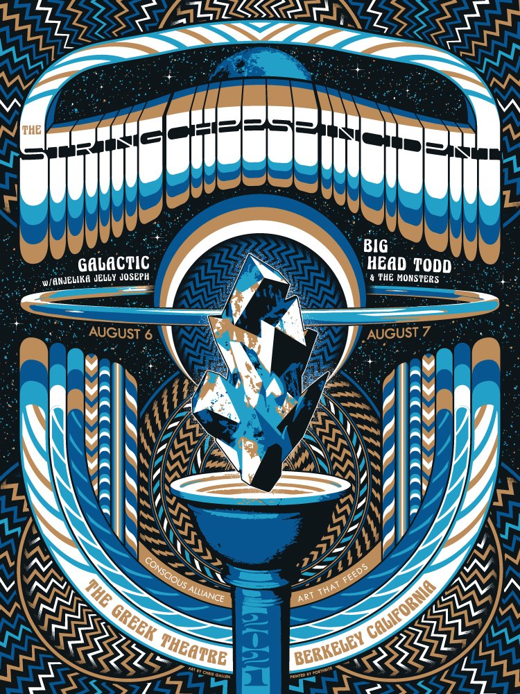 THE STRING CHEESE INCIDENT - CONSCIOUS ALLIANCE POSTER, GREEK THEATRE 2021