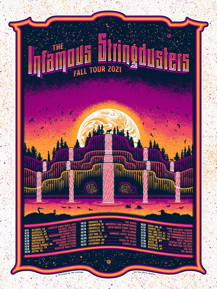 THE INFAMOUS STRINGDUSTERS - FALL 2021 POSTER